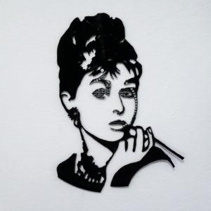 Vinyl-Schnitt Audrey Hepburn